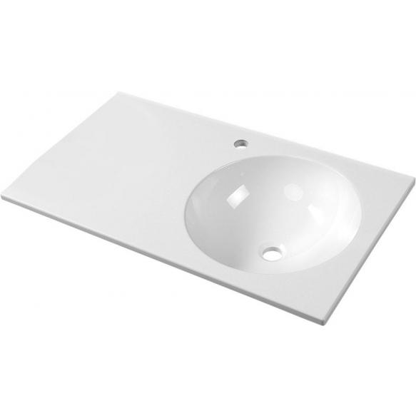 pesuallas Interia Juno, oikeakätinen, komposiittikivi, 800 X 460 mm
