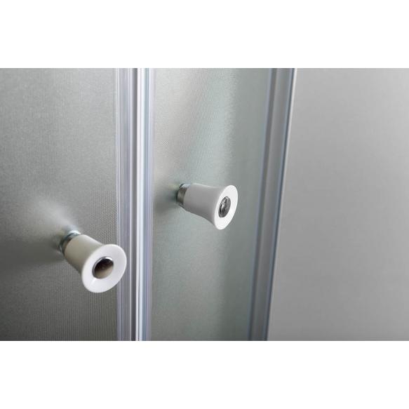 suihkunurkka Interia Arlen, 900x900x1850, valkoinen profiili, karkaistu turvalasi, kuviolasi