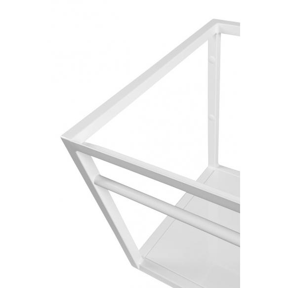 metallinen pesuallasrakenne Ska, 75 cm, mattavalkoinen, valkoinen MDF-hylly