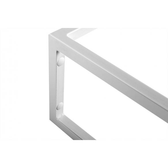 metallinen pesuallasrakenne Ska, 90 cm, mattavalkoinen