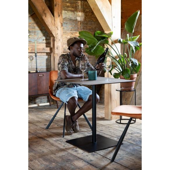 kulmikas bistropöytä Braza, ruskea