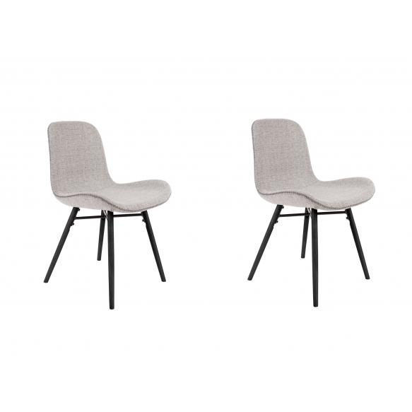 setti: 2 tuolia Lester, vaaleanharmaa