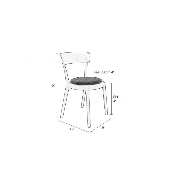 setti: 2 tuolia Hoppe Comfy, tummanharmaa