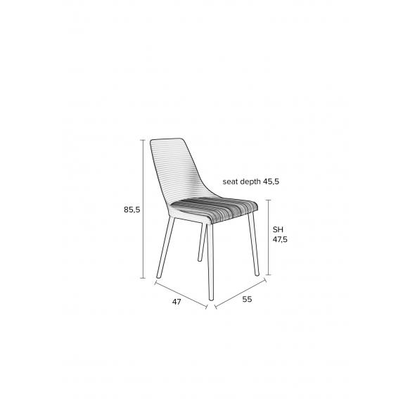 setti: 2 tuolia Olivia, valkoinen