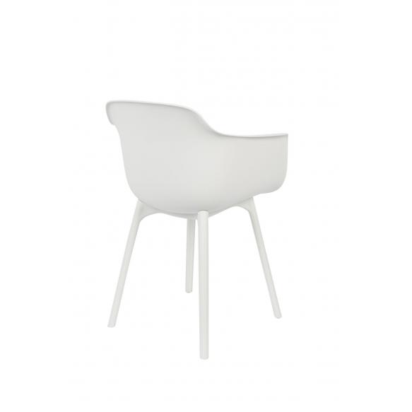 setti: 2 käsituin varustettua tuolia Mae, valkoinen