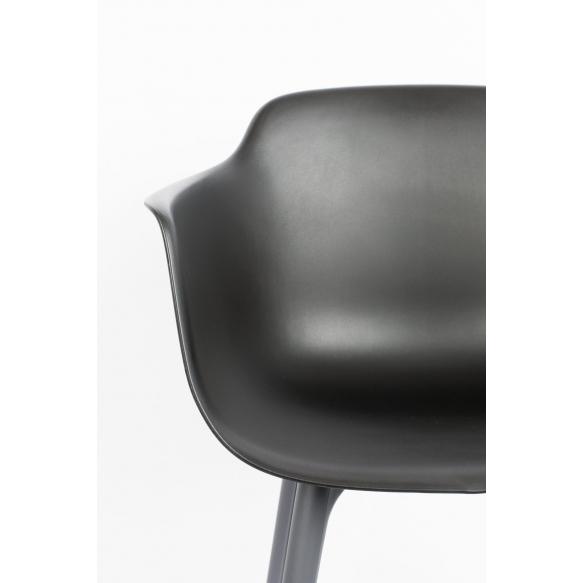 setti: 2 käsituin varustettua tuolia Mae, tummanharmaa