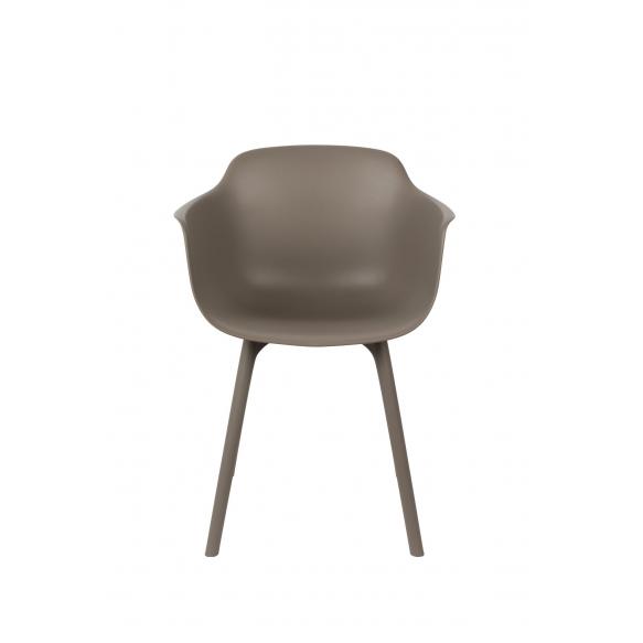 setti: 2 käsituin varustettua tuolia Mae, ruskehtavanharmaa