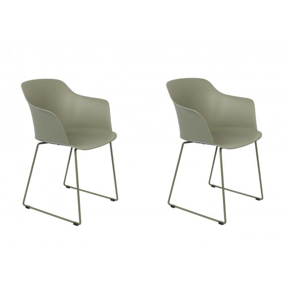 setti: 2 käsituin varustettua tuolia Tango, vihreä