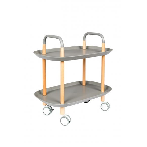 pyörillä varustettu tarjoilupöytä Cruiser, harmaa