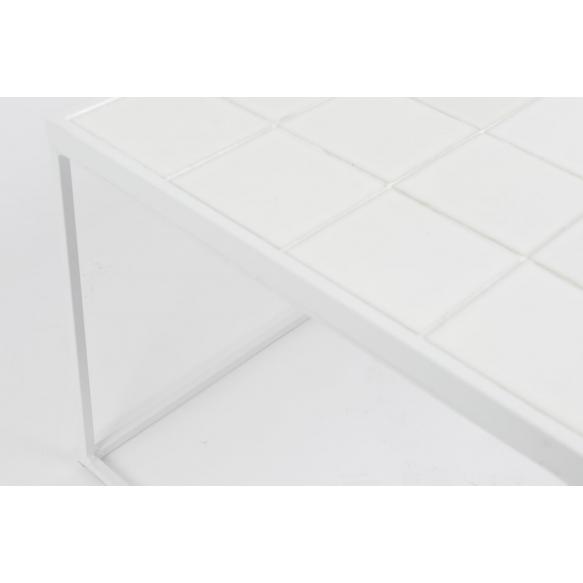 kahvipöytä Glazed, valkoinen