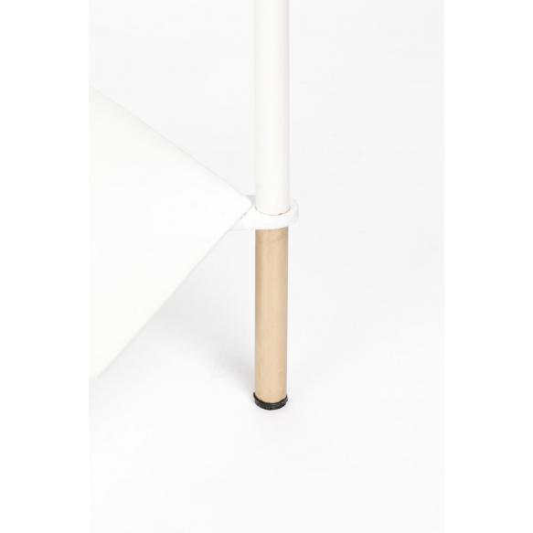 apupöytä Honeycomb, valkoinen