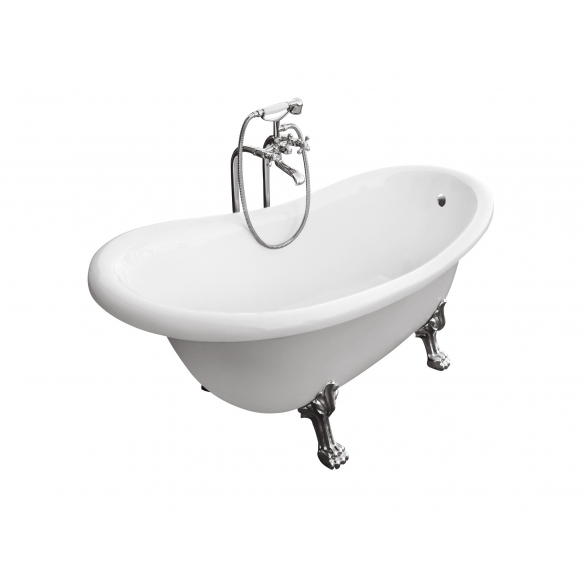 kylpyamme Interia Odelle 160, 180 l, 1600 x 770 mm valkoinen, pronssi tassut