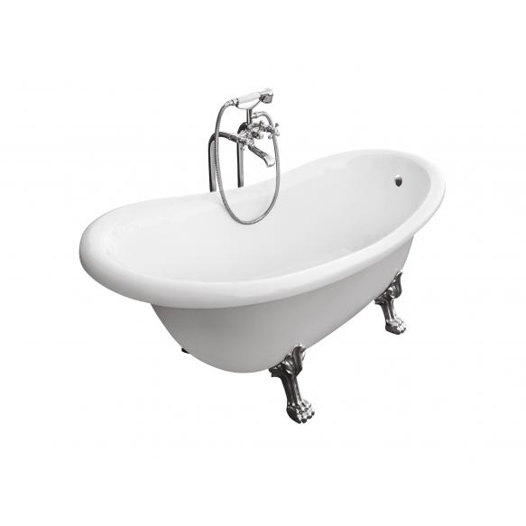 kylpyamme Interia Odelle 170, 190 l, 1700 x 770 mm, kromiset tassut