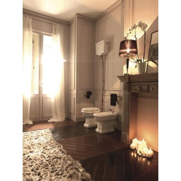 WC-istuin Kerasan Retro 1, S-lukko, keraamisella yläsäiliöllä, pronssi