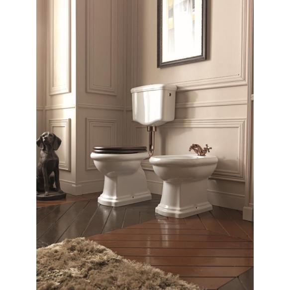 wc-istuin Kerasan Retro 2, S-lukko, keraamisella alasäiliöllä, pronssi