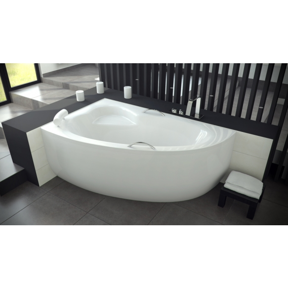 kylpyamme Interia Natalie 150R, 150x100 cm, vasen