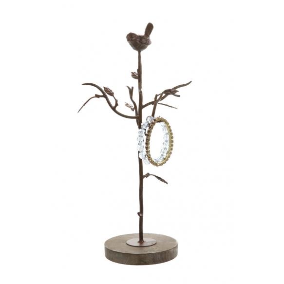 metallinen lintuaiheinen korunpidin, 38 cm H