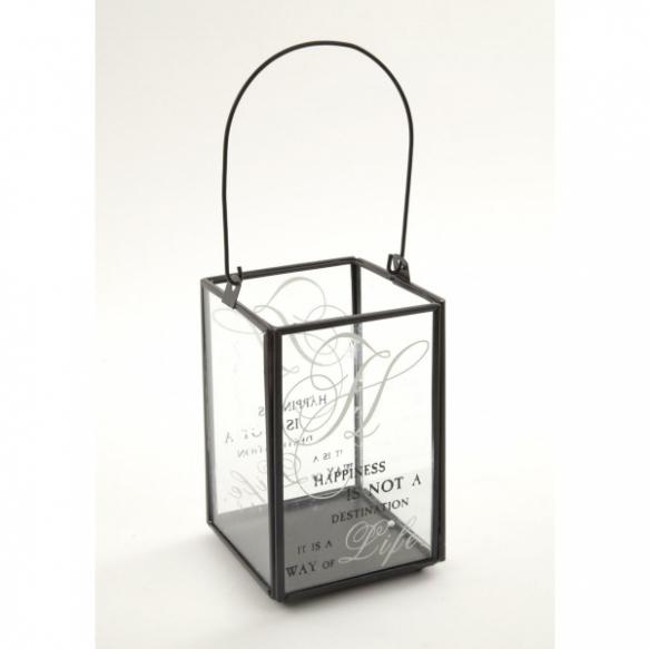 metallinen ja lasinen kynttilänpidike
