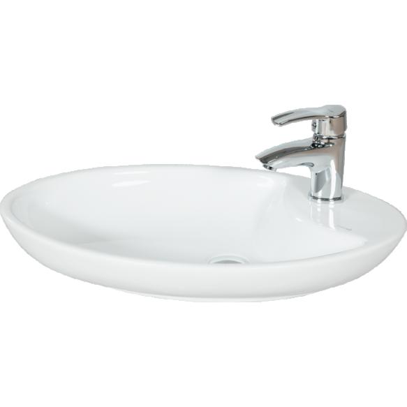 soikea pesuallas Creavit pöytätasolle, valkoinen, 40.5x64.5 cm