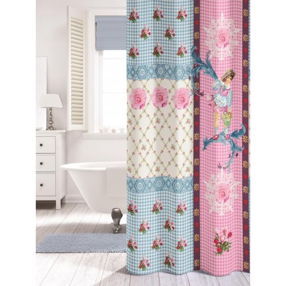 Suihkuverho MILOU, tekstiili