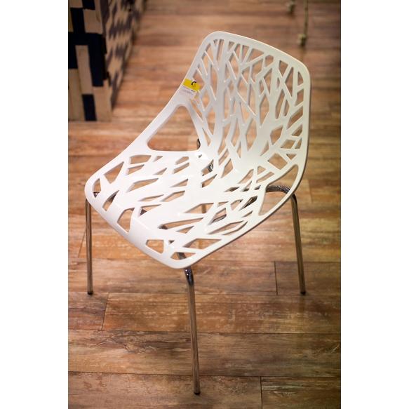 pinottava tuoli Flora, valkoinen