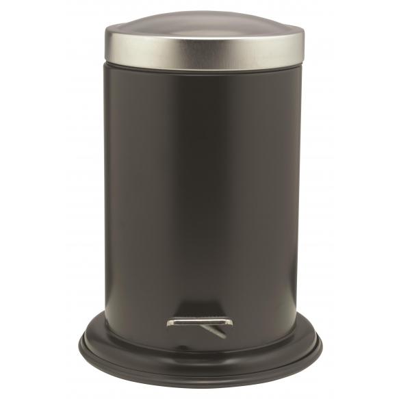 ACERO metallinen roskakori, musta