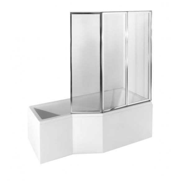 Kylpyamme Interia Intera 150, 170 l, 1500 x 750 mm, vasen