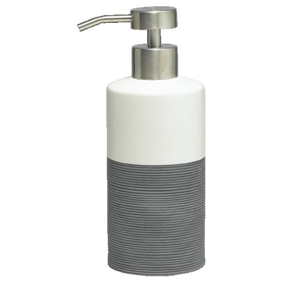 harmaa nestesaippua-annostelija DOPPIO, käsin valmistettua keramiikkaa