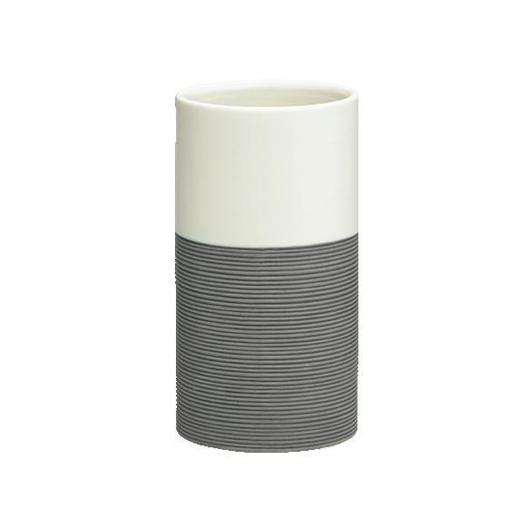 harmaa muki DOPPIO, käsin valmistettua keramiikkaa