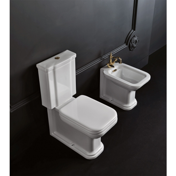 wc-istuin Kerasan Waldorf 3, 3/6l kaksoishuuhtelu, pronssi