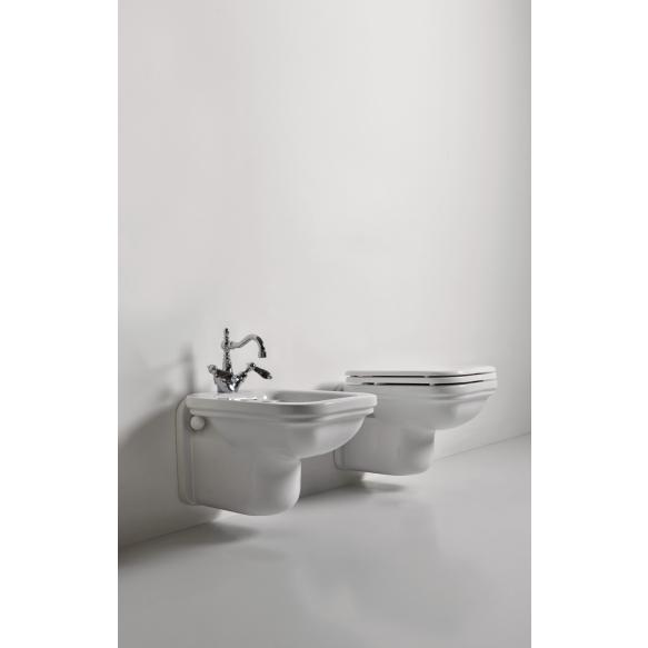wc-istuin Kerasan Waldorf 4115, seinämalli, valkoinen