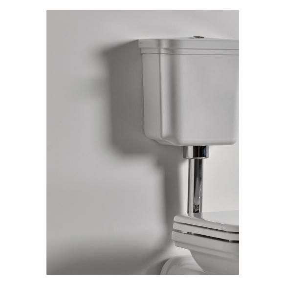 wc-istuin Kerasan Waldorf 2, keraamisella alasäiliöllä, pronssi