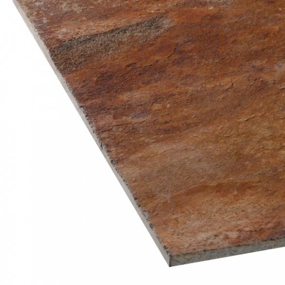 Rusty slate 12mm 100x100x12mm
