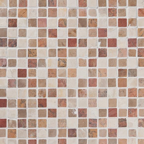 Square Terra-Mustard-White marble 20x20mm