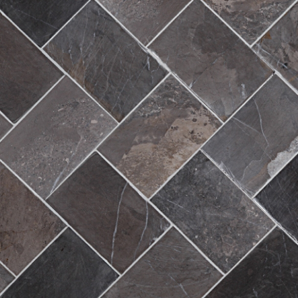 Herringbone 100x150mm, Grey, no mesh