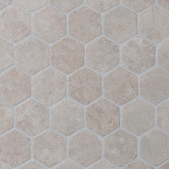Hexagon White marble