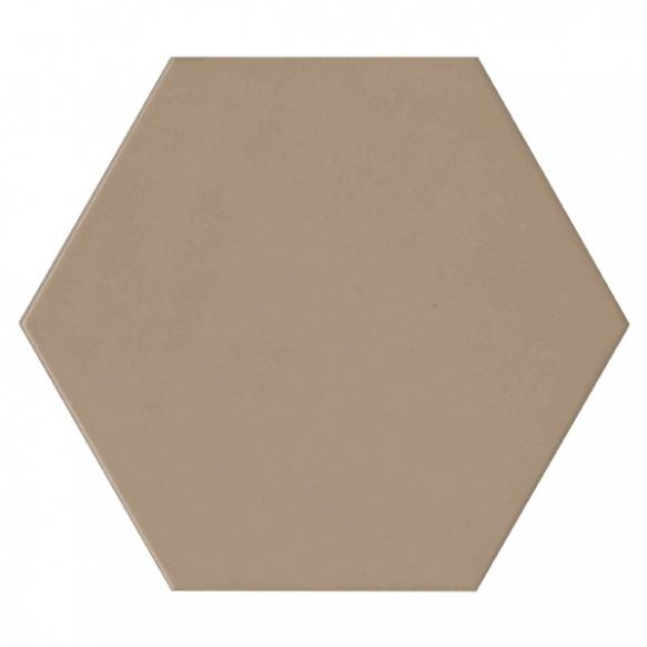 Hexagon Brown, glazed porcelain tile, suitable for public use