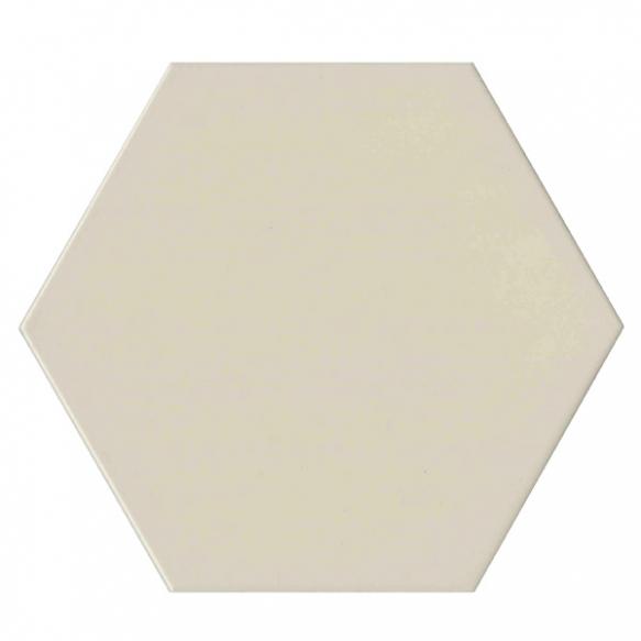 Hexagon White, glazed porcelain tile, suitable for public use
