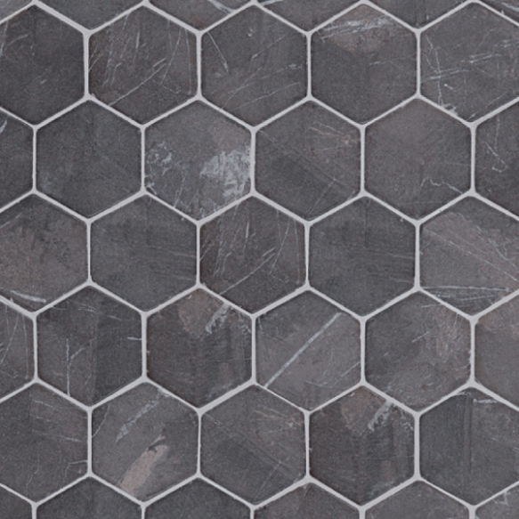 Hexagon Grey marble