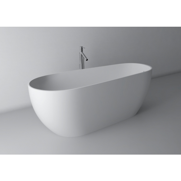 kivimassa kylpyamme Silvio, 170x70 cm, integroidulla ylivuodolla
