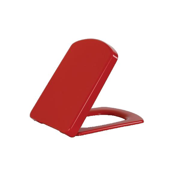 soft-close istuinkansi Creavit Lara, punainen