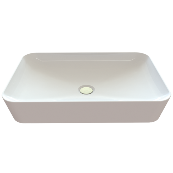 pesuallas Creavit Ultra pöytätasolle, 40x60 cm, valkoinen