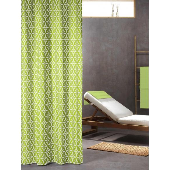 Suihkuverho Floreale, tekstiili