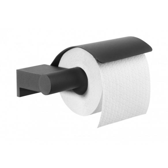 wc-paperiteline Bold, lasi+metalli, mattamusta, ruuviton asennus