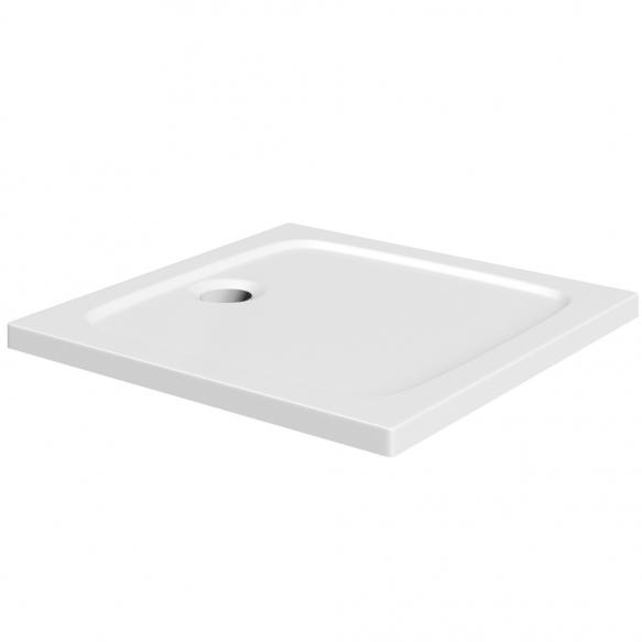 suihkukulman allas Interia S0004-SET, kivimassa, 90x90cm, valkoinen S0004+1711C+S0506+S0509