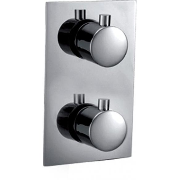termostaatti upotettava suihkuhana Kimura, kromi, 2 veden ulostuloa, metalliset kädensijat