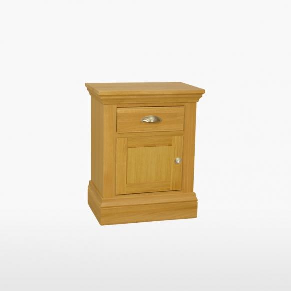 yökaappi yhdellä ovella ja yhdellä laatikolla (L/H-saranoin)