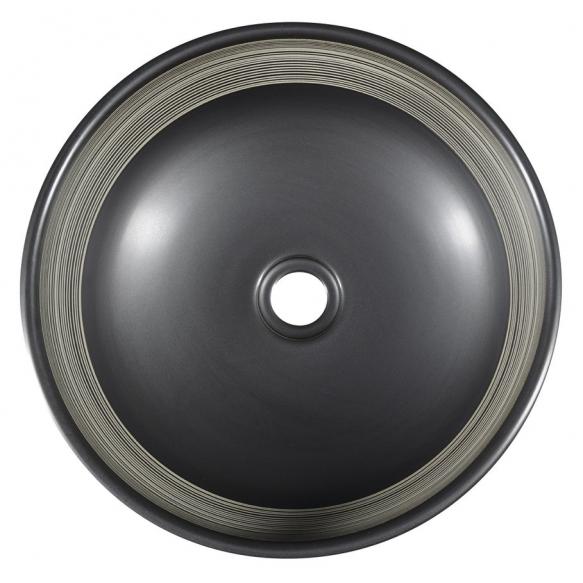 Valamu tööpinnale Priori 40x15 cm, must/valge