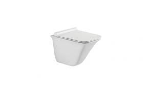 WC-istuin Bathco Piamonte, huuhtelukaulukseton, Soft Close-kannella