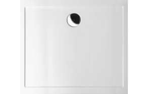 Kivimassa suihkuallas INTERIA Karia 80x70x4 cm oikea, valkoinen  + jalat AWG05 + etulevy 90151R + vesilukko S-1711C